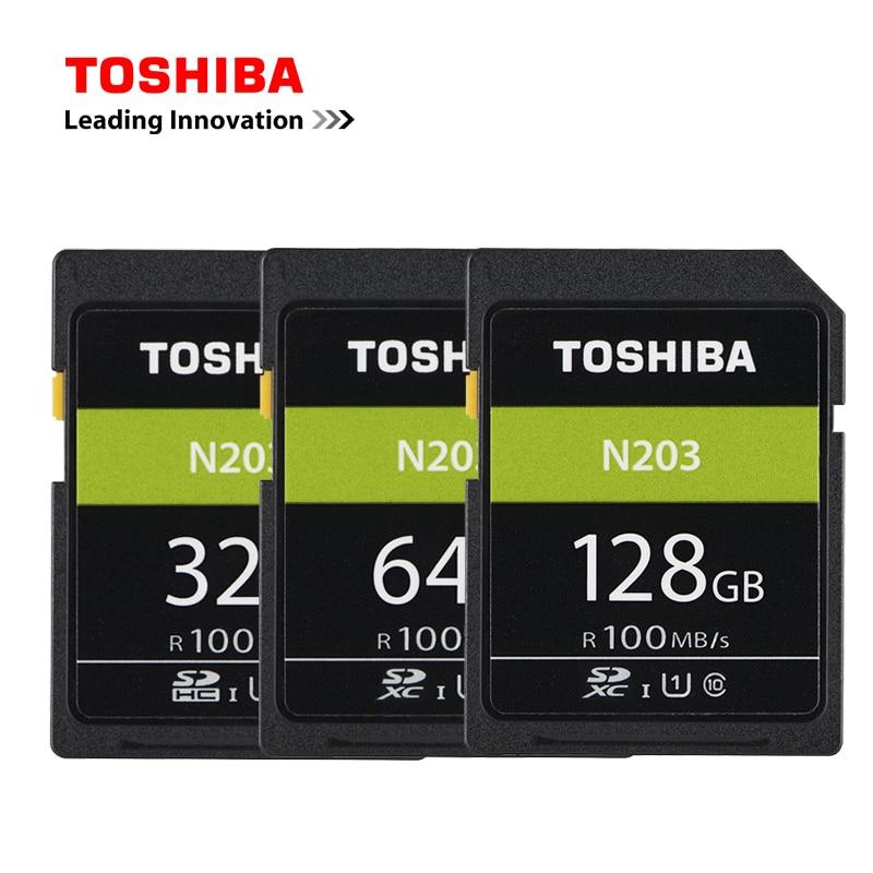 Galleria fotografica <font><b>TOSHIBA</b></font> Originale Ad Alta Velocità Scheda di Memoria SD 32G 64G 128G U1 Supporto SD Card Full HD di Ripresa per Canon Nikon Fotocamera REFLEX Digitale