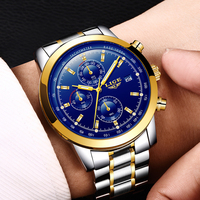 LIGE Relogio Masculino Men Watches Luxury Famous Top Brand Men S Fashion Casual Dress Watch Military