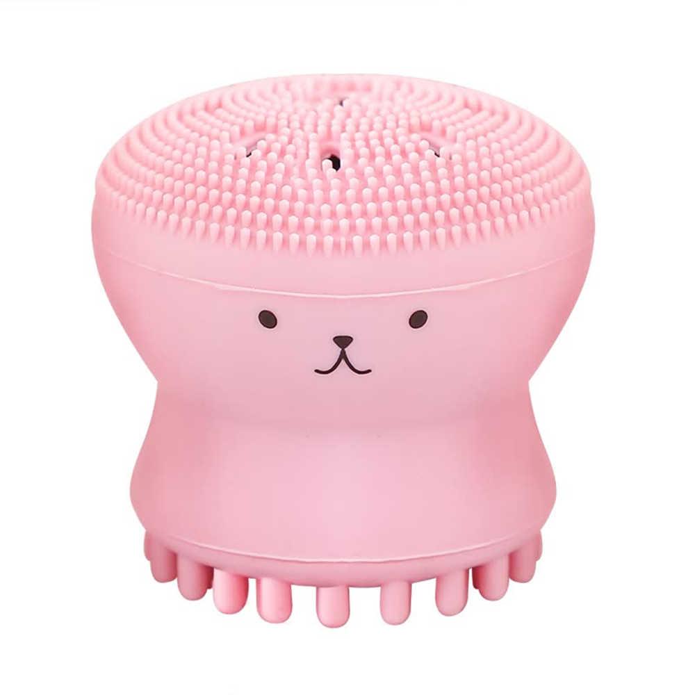 יפה חמוד בעלי החיים קטן תמנון צורת סיליקון פנים ניקוי מברשת עמוק נקבובית ניקוי פילינג פנים כביסה מברשת עור טיפול