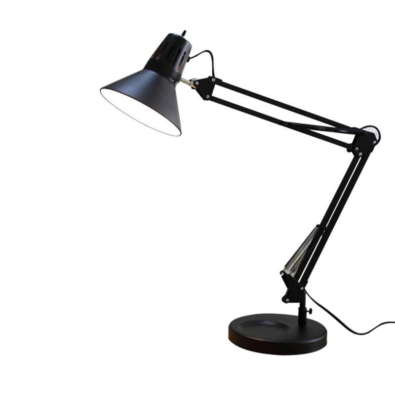 Лампа с кулисой со светодиодной подсветкой поворотный стол легкого металла настольная лампа
