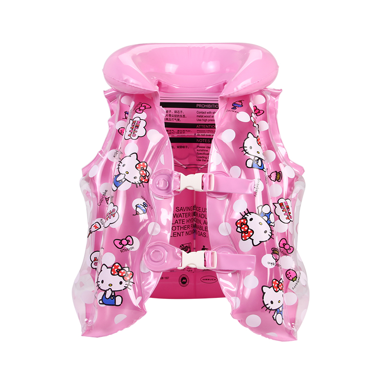 Hello kitty Children Float Swimming Aid Swim Vest Learn-to Swim Life Jacket Buoyancy Aid Vest for 3-6year old Kids