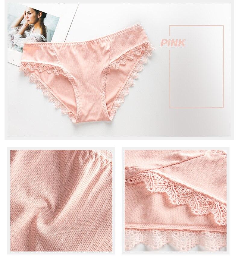 Comfort Sexy Seamless Panties Women Ladies Briefs Woman Underwear 100% Cotton Crotch Health Panties (20)