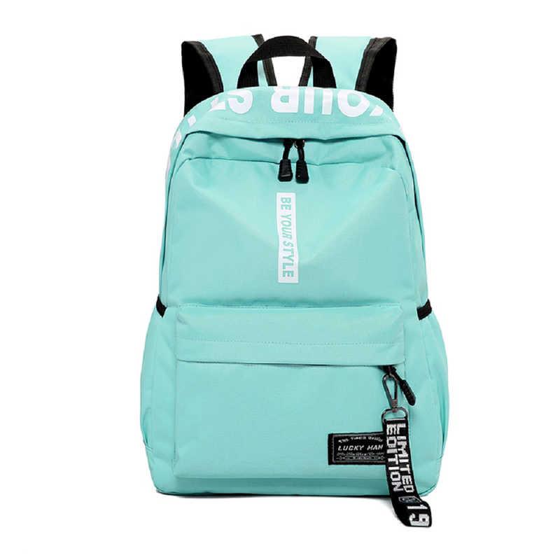 Nastolatki plecak szkolny mężczyźni kobiety plecak plecak na laptopa chłopcy dziewczęce plecaki szkolne torba na ramię Mochila