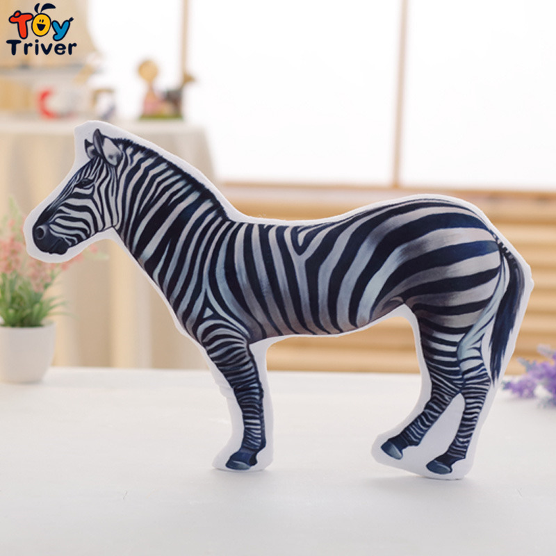 Kawaii Jungle Zebra Plush Toys Stuffed Animals Cartoon Zebra Shape Pillow Cushion Creative Kids Children Birthday Gift Triver 65cm plush giraffe toy stuffed animal toys doll cushion pillow kids baby friend birthday gift present home deco triver