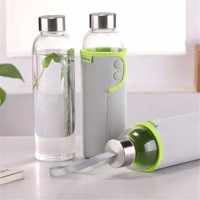 49b4f690a 1 pcs New Sakura Dandelion Design Glass Water Bottle with Lid and Rope  Outdoor Sports Travel Bicycle 360ml Water Bottle