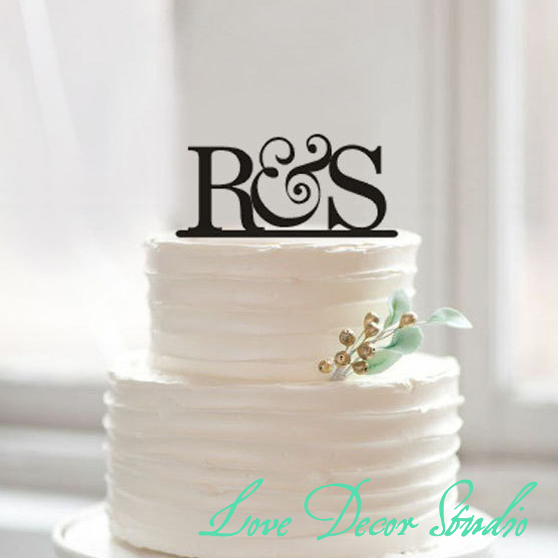 cake topperbride and groom initial cake topper wedding cake toppers rustic initial wedding toppers acrylic letter