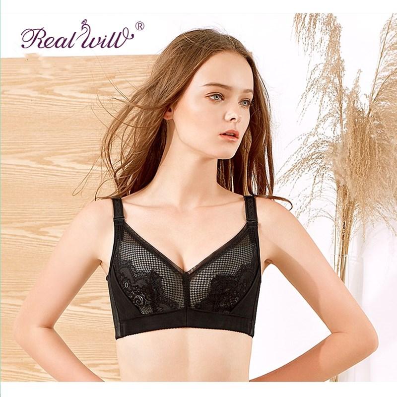 Realwill Black Sexy Women Push Up Bra Large Size Lace Bra Women Intimates Hot New Design Sexy Wireless Bras