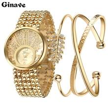 2017 New Fashion Relojes mujer Wristwatch Bracelet Set Quartz watch Woman Ladies Watches Clock Female Dress Relogio Feminino