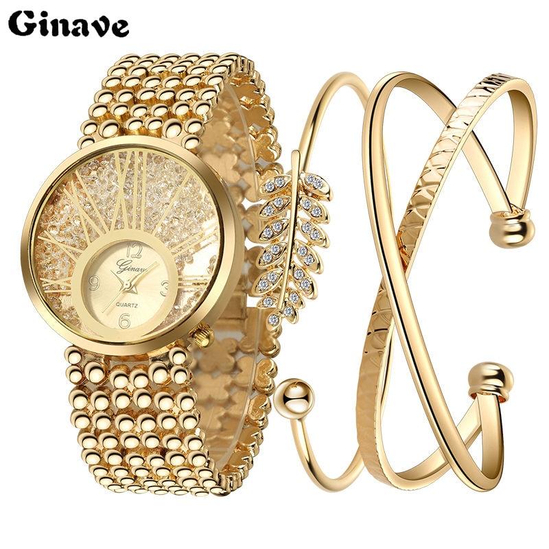 Luxury Gem Wristwatch Bracelet Set Quartz Watch Woman Ladies Watches Clock Female Dress Relogio Feminino Relojes Mujer
