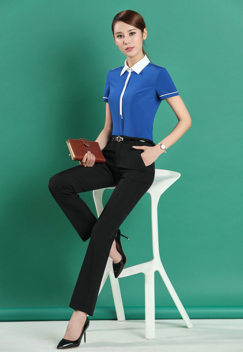 3xl Suits With Pantsuits And Blue Formal Size Ladies Professional Plus Trousers Fashion Pants Elegant Tops Sets New For Z1Rwq47