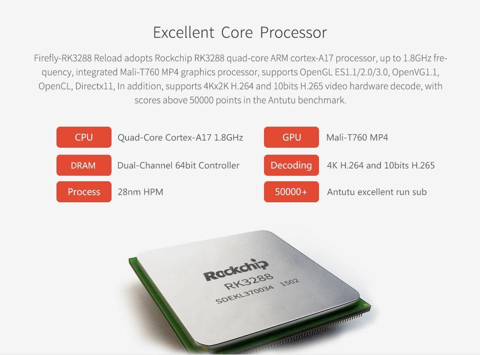 Firefly RK3288 Reload Development Board ARM Quad core Cortex A17 1 8