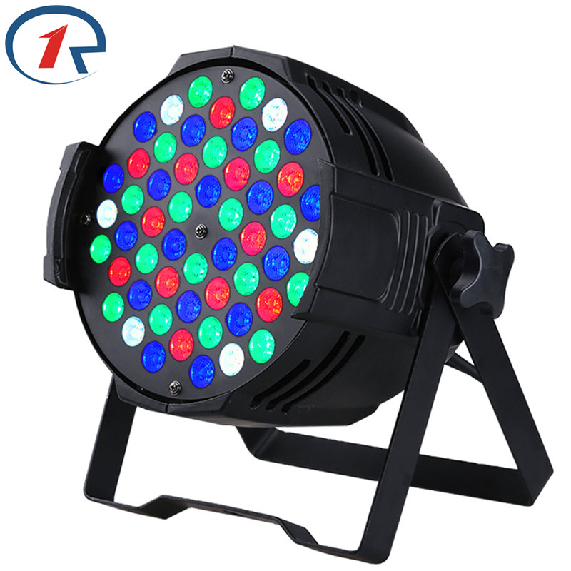 ZjRighrt 30W 4 in 1 RGBW 54 LED Par light DMX512 profession stage Light for Party KTV bar Disco dj effect lighting Fast shipping free shipping 16 lot dmx 18x10w rgbw led par can light for stage decoration