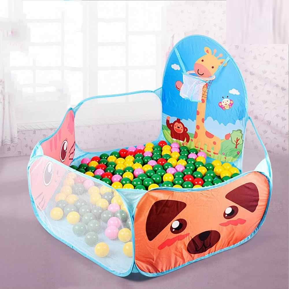 Children Outdoor Toys  Cartoon Animal Folding Ocean Ball Pit Pool Kids Tent House Play Toys Tent House Play Toys Birthday Gift