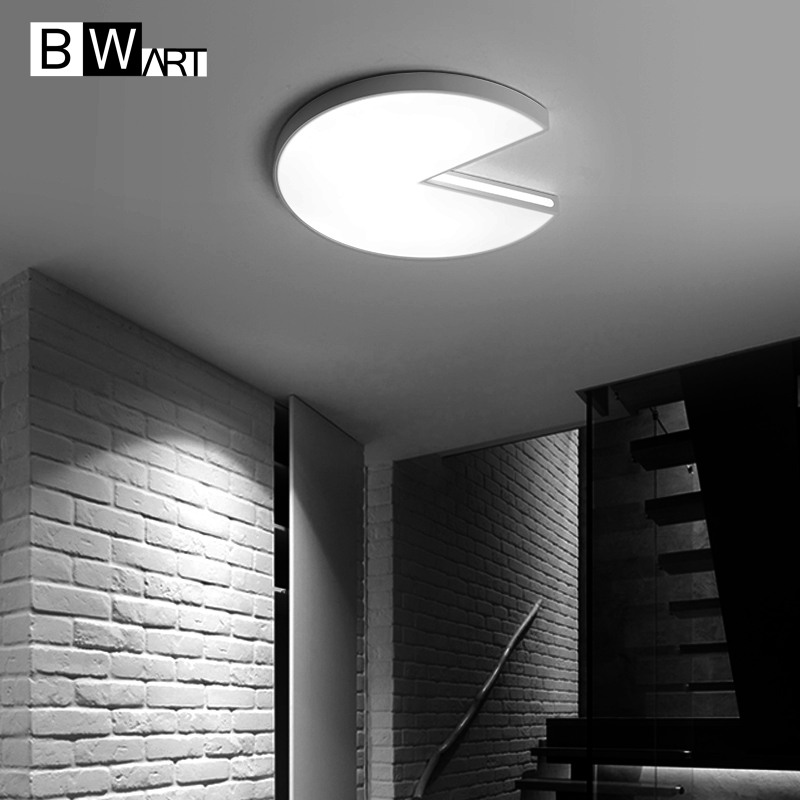 BWART Modern LED ceiling light white Pac Man decoration fixtures study dining room balcony bed room ceiling lamp