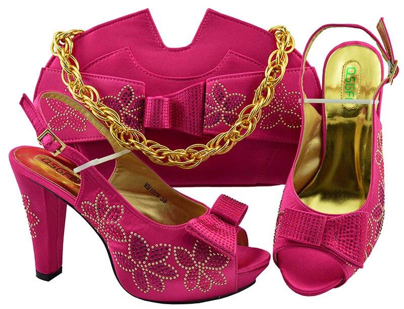 Fucsia 4 Alto Vestido Italiano Caliente Bolsas 43 7 A Encaje Rosa De Y Fiesta 3 Bolso 38 Con Pulgadas Africana Zapatos Tacón Para Tamaño Sb8347 aw7q5ZW