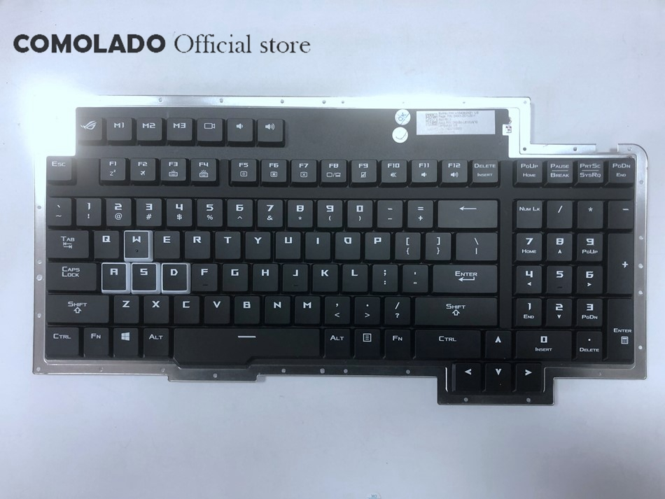 Clavier US rétro-éclairé pour Asus ROG GX800 GX800V GX800VH V154262AS1 US 0KN1-0C1US11 0KNB0-L610US00 clavier d'ordinateur portable disposition US