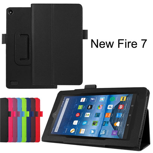 Hot Arrival Fashion PU Leather Folio Stand Cover Case For Amazon New Kindle Fire7 Fire 7 2015 Tablet 7 inch