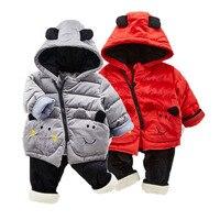 new born baby sets parka coat outerwear jacket cotton pants fur inside trouser bear infant toddler girl boy 6 12 18 24 months