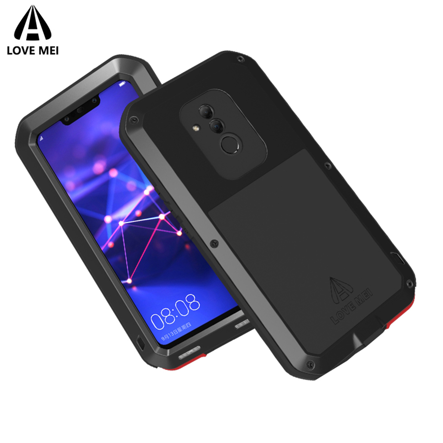 Love Mei Brand Case For Huawei Mate 20 Lite Metal Shockproof Phone Cover For Huawei Mate 20 Lite Full Body Armor Anti Fall Shell in Fitted Cases from Cellphones Telecommunications
