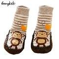 Calcetines del bebé Anti Slip de Algodón Recién Nacido Ropa de Invierno de Dibujos Animados Lindo Niño Niños Zapatos de Suela De Goma Niño Meias Infantil Agradable