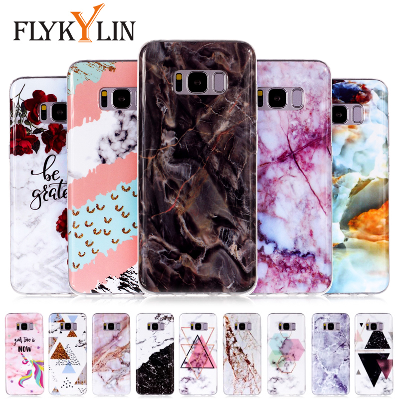 Buy FLYKYLIN Retro Marble Case For Samsung Galaxy S8 Plus Case For Samsung S9 S7 Edge Covers Soft TPU Silicone Cases Cartoon Coque for only 1.69 USD