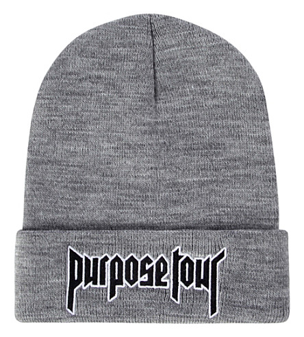 Purpose Tour Embroidered winter hat Vintage Retro Justin Bieber Hat High Street Dark Tide Caps For Women And Men   Skullies     Beanie
