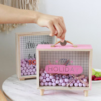 Home Decoration Accessories Modern Storage Organizer Box Gift Box Decorative Coin Money Wooden Box