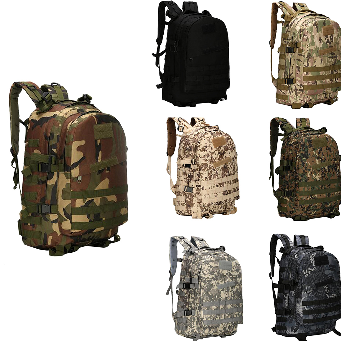 Outdoor Sport Nylon Military Tactical Backpack Rucksack Travel Bag Camping Hiking Climbing Bag molle outdoor climbing bags military tactical backpack single shoulder bag sport backpack camping hiking bag travel rucksack bag