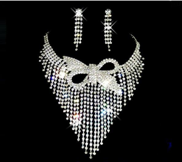 A079 White plated gold color Plated Bride Wedding Engagement African Jewelry Sets B28 ABC