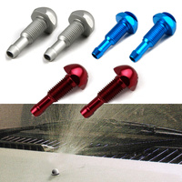 New 2PCS Chrome Windshield Washer Wiper Water Spray Nozzle Cover Cap On Front Hood Bonnet Wiper