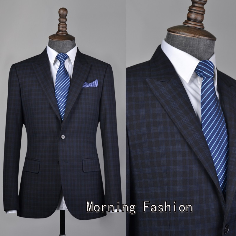 Aliexpress.com : Buy Free shipping 2015 Custom Men's Check Suit ...