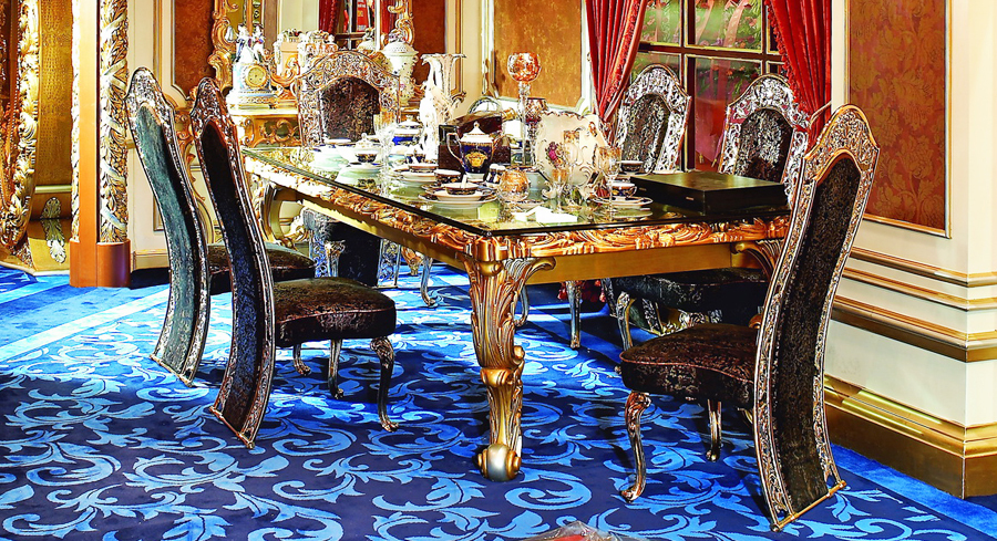 european dining room furniture | European Style Luxury Imperial Wood Carved Decorative ...