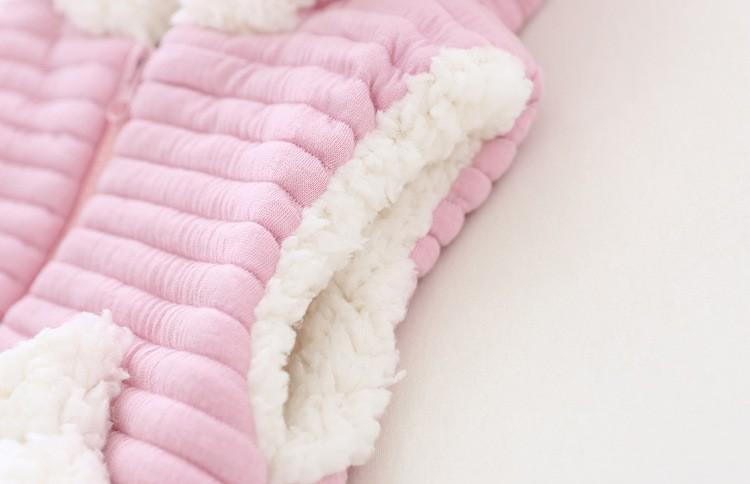 baby girl winter warm fleece vest jacket waistcoat hooded (3)