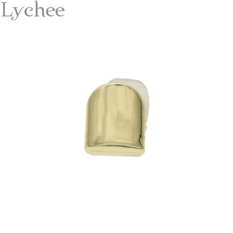Lychee Or Argent Couleur Dents Rock Style Hip Hop Grillz Caps Top Fond Dentaire Grills Vampire Dents pour Costume Party(China (Mainland))