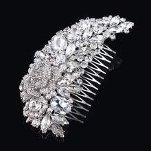Rhinestone Flowers Hair Pin For Wedding