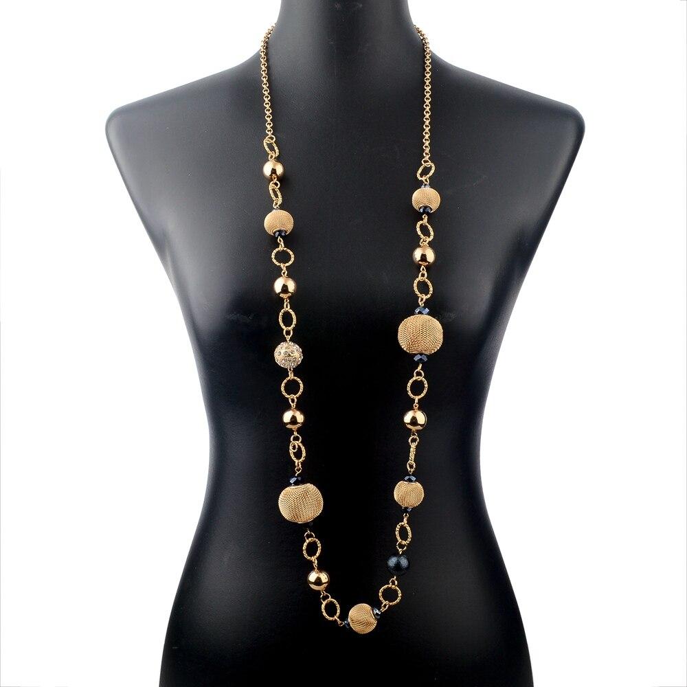 LongWay Vintage srebrna boja zlatna boja lančana ogrlica nakit - Modni nakit - Foto 5