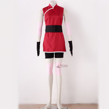 Athemis Anime Haruno Sakura Cosplay Costume robe sur mesure de haute qualité(China)