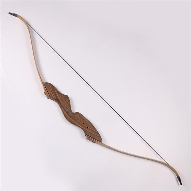 6062524aa 1 unidades caza recurvo arcos de madera 60   50lbs arcos y flechas para la