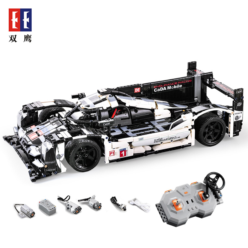 CADA Mobile legoing Technic 1586 pièces Super sport voiture vitesse Champions ville MOC créateur blocs de construction briques jouets pour enfants