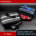 HuiDuoDuo Car-Styling 37-38CM Micro Fiber Leather General Hand Sewing Car Steering Wheel Covers With Needle And Thread
