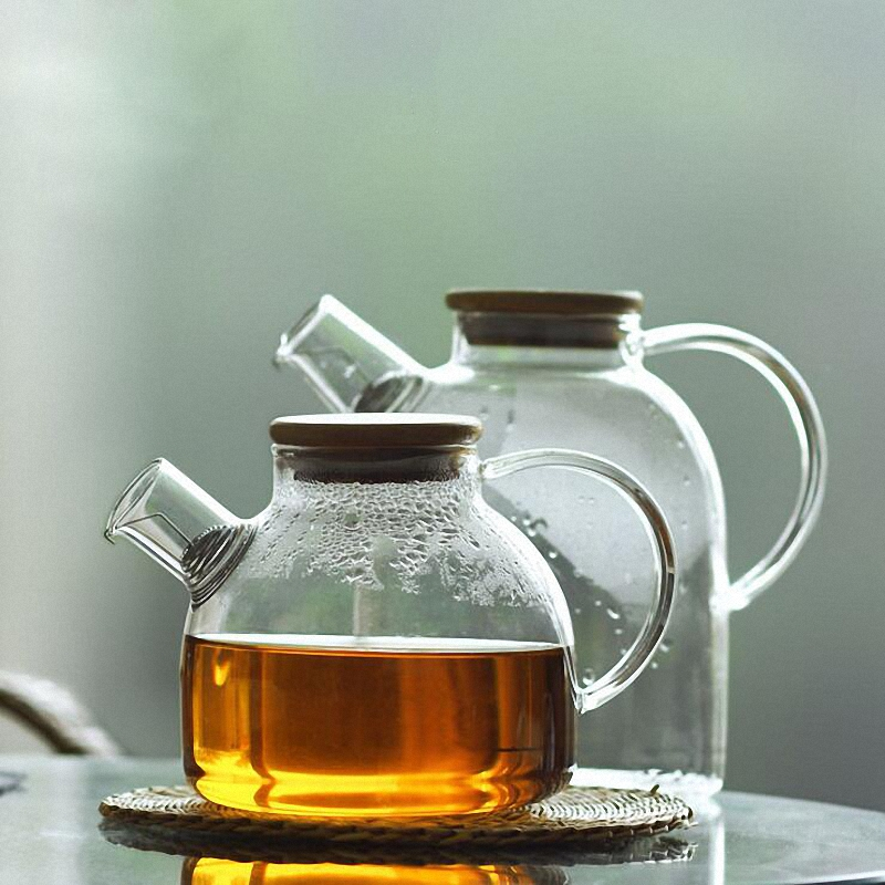 PINNY Heat Resistant Glass Tea Pot Scented Tea Transparent Glass Teapot Chinese Kung Fu Tea Set Fashion Teapots Kettle