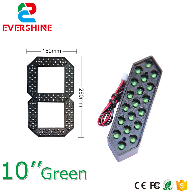 10 inch green color led gas price signs digita 7 segment Numbers Module gas station price sign board