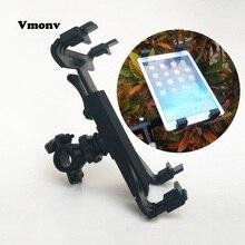 Vmonv 7 «-10» велосипед мотоцикл регулируемые углы кронштейн Подставка для планшета Ipad Air Mini 1 2 3 4 Крепление-держатель для планшета