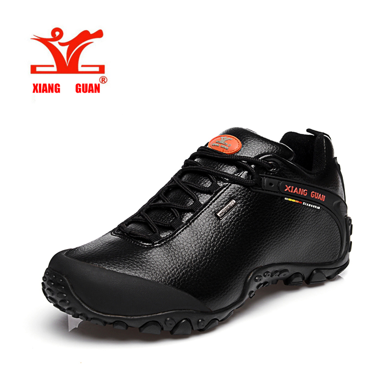 XIANGGUAN Hiking Boots Outdoor Sneakers male Genuine Leather Climbing Camping Shoes  Trekking Men Shoes  ID 81996 yin qi shi man winter outdoor shoes hiking camping trip high top hiking boots cow leather durable female plush warm outdoor boot