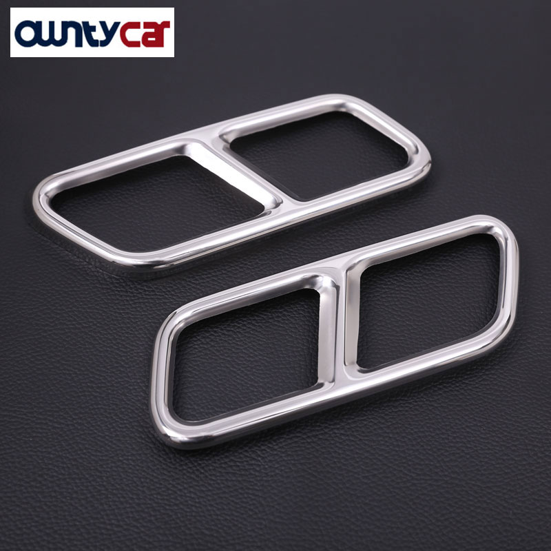 Car Accessory Steel Exhaust Cover Outputs Tail Frame Trim For Mercedes Benz S Class W222 Coupe S Class AMG Auto Parts 2010 2017