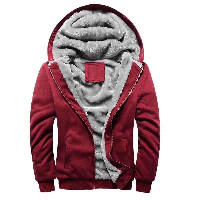 LBL invierno chaqueta de lana de hombre sólida gruesa chaquetas de los hombres con capucha abrigo de hombre otoño cálido chándal de hombres nuevos de ropa deportiva