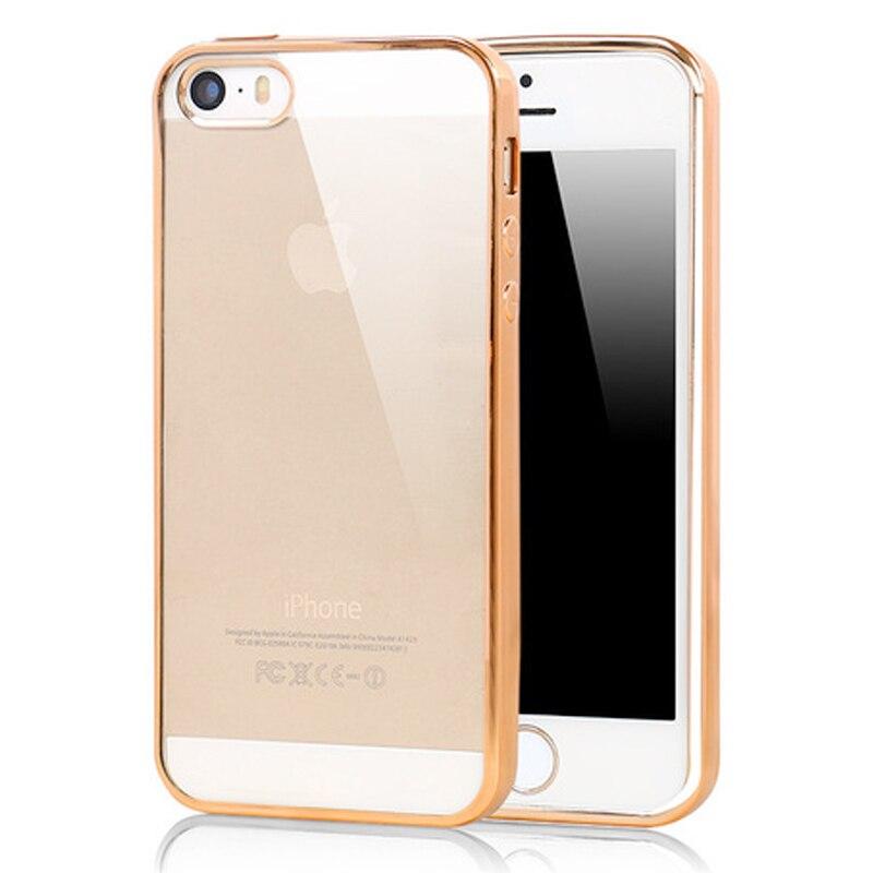 אולטרה דק ברור עלה כיסוי מקרה עבור iphone 5 5s se שריון רך tpu כיסוי עבור iphone 5 5se s מקרי טלפון סלולרי נייד מעטה
