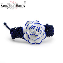 Hot Sale free shipping new handmake Rose flower vintage bracelet for woman porcelain jewelry thanksgiving special accessories