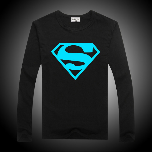 Luminous Long Sleeve T-Shirts For Teenage Boys Clothing Girls Tops Tshirt Kids T Shirt Children Baby Tees Clothes 12 13 14 Years