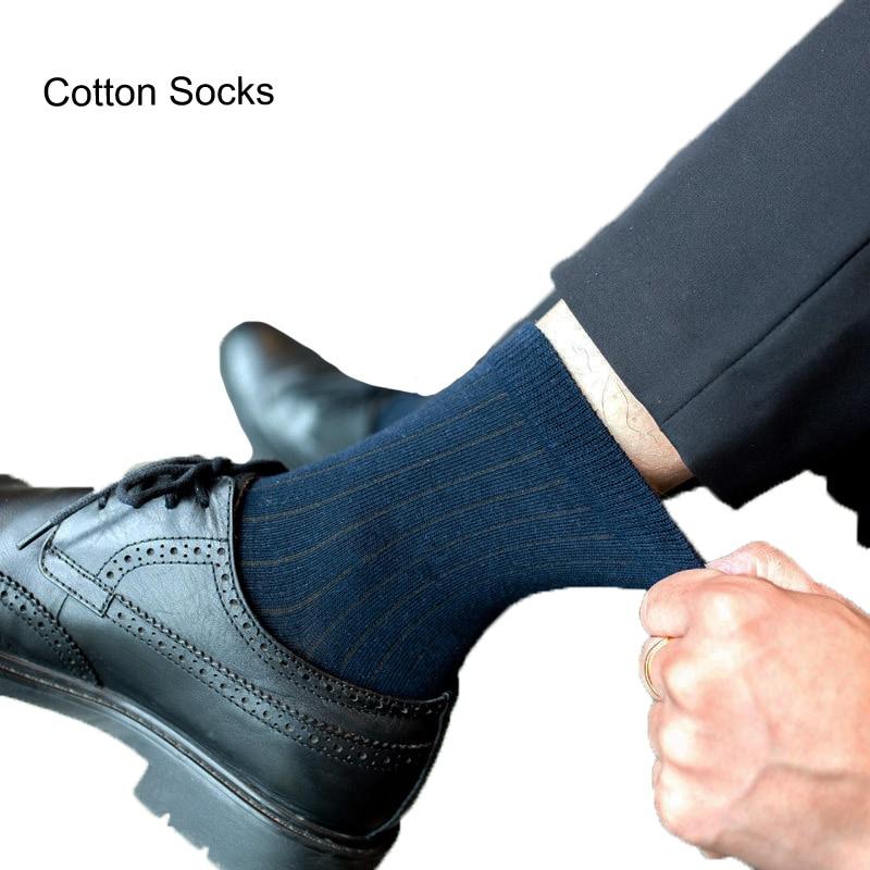 5Pairs/Lot Fashion Brand Men Socks High Quality Cotton Socks Summer Socks calcetines Breathable Stripe Business Socks Men Meia